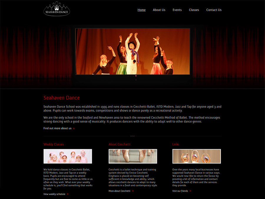 Web Design Worthing - Home Page Design