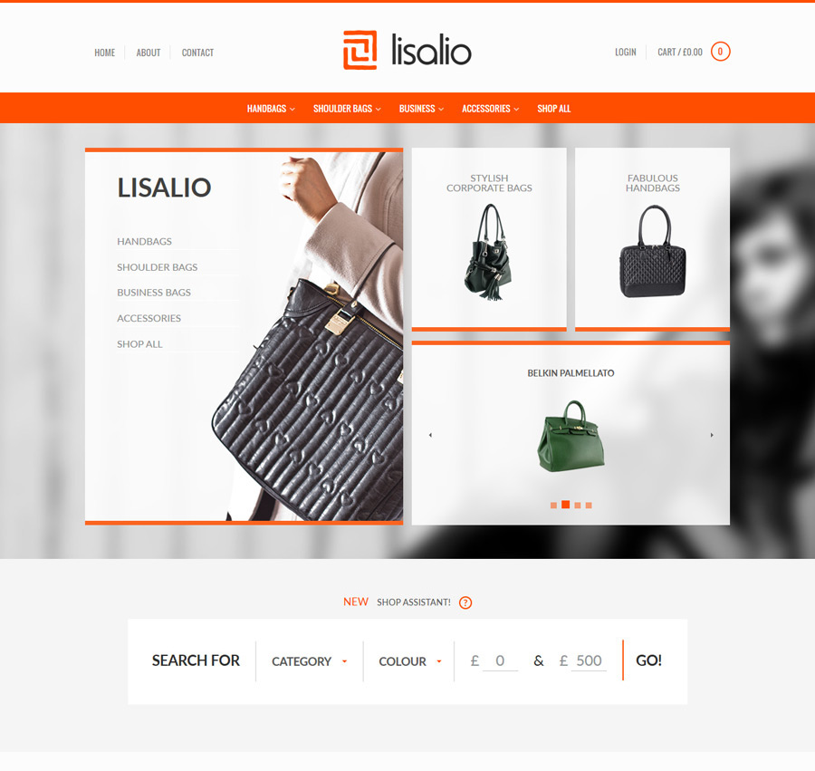 E-commerce web design project screenshot
