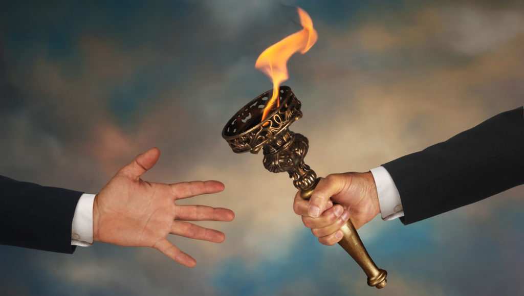 Man Passing The Torch - Get Help When You Need It