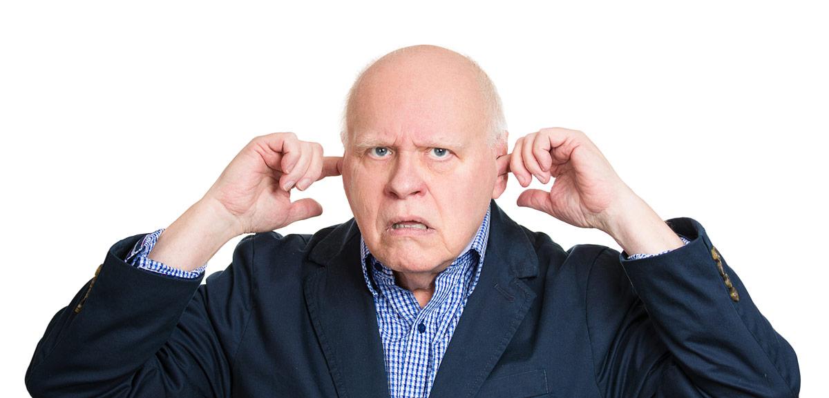 Old Man Not Listening - Obvous Website Hater