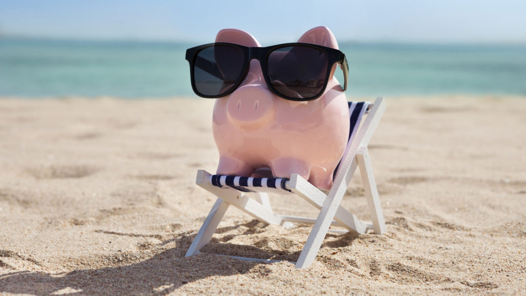 Pig Relaxing on Deck Chair - Know Your Web Design Budget