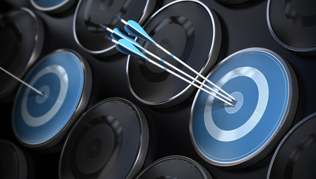 Arrows Hitting a Target - Set Targets for Your Web Design Projects
